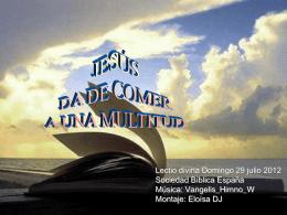 JESÚS DA DE COMER A UNA MULTITUD