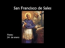 San Francisco de Sales. - La Visitación de Santa