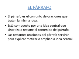 EL PÁRRAFO