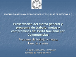 Presentación del marco general y programa de