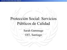 Protección Social: Servicios Públicos de Calidad