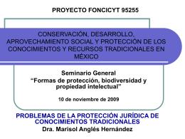 CONSERVACIÓN, DESARROLLO, APROVECHAMIENTO SOCIAL Y