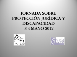 JORNADA SOBRE PROTECCIÓN JURÍDICA Y DISCAPACIDAD