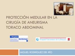 PROTECCIÓN MEDULAR EN LA CIRUGÍA DE ANEURISMA