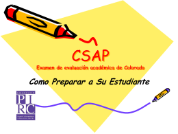 CSAP: Getting Ready