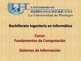 Curso: Fundamentos de Computación Sistemas de