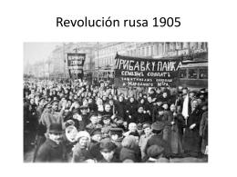 LA REVOLUCIÓN RUSA. La revolución de 1905