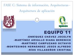 FASE C: Sistema de información Arquitecturas