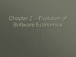Chapter 2 – Evolution of Software Economics
