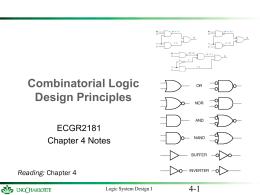 Logic Design I