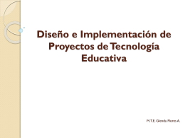 Diseño e Implementación de Proyectos Educativos