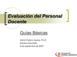 Evaluación del Personal Docente