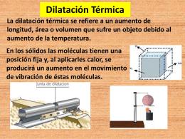 Dilatación Térmica