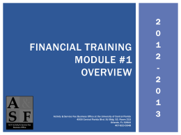 Welcome to A&SF Financial Training