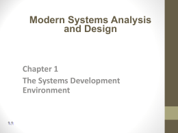 Modern Systems Analysis and Design Joey F. George