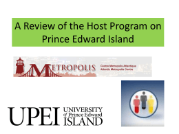 A Review of the Host Program on Prince Edward