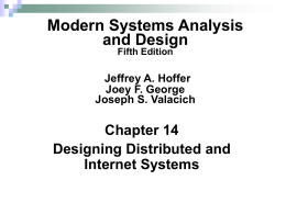 Modern Systems Analysis and Design Ch1