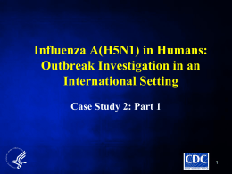 Influenza A(H5N1) in Humans: Outbreak