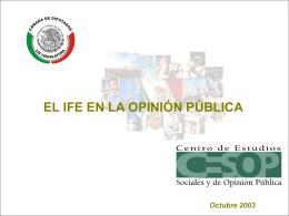 El IFE en la opinión pública