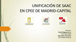 UNIFICACIÓN DE SAAC EN CPEE DE MADRID