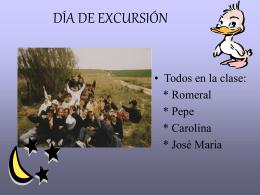 DÍA DE EXCURSIÓN - Universidad de Cádiz