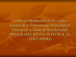 Centro de Mediación y Convivencia Escolar de la