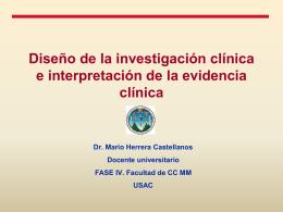 Diseño de la investigación clínica e