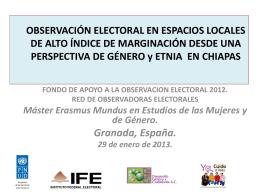 PROYECTO: OBSERVACIÓN ELECTORAL EN ESPACIOS