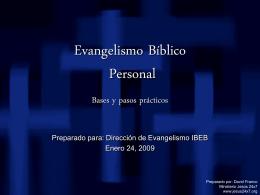 Evangelismo Bíblico Personal Bases y pasos