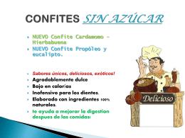 CONFITES SIN AZÚCAR