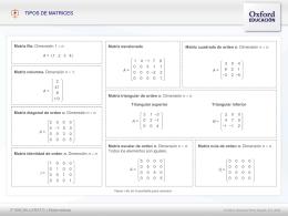 Tipos de Matrices - Oxford University Press España
