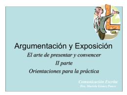 Argumentación y Exposición