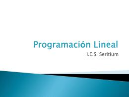 Programación Lineal - La Reina de las Ciencias