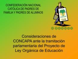 CONFEDERACIÓN NACIONAL CATÓLICA DE PADRES DE