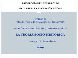 Psicología del desarrollo Unidad I: Introducción a