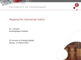 Dias nummer 1 - University of Verona