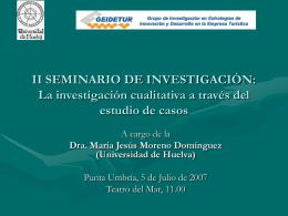 II SEMINARIO DE INVESTIGACIÓN: La investigación