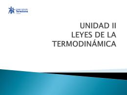 UNIDAD II LEYES DE LA TERMODINÁMICA