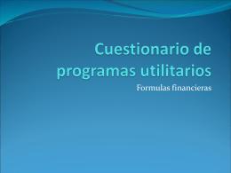 Cuestionario de programas utilitarios