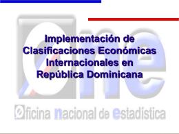 Implementación de Clasificaciones Económicas