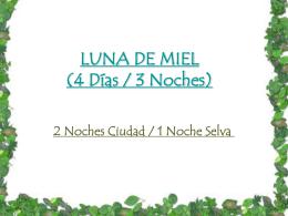 LUNA DE MIEL (4 Días / 3 Noches) - Invtravel -