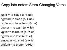 Copy into notes: Stem