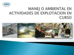 PLAN DE CIERRE DE MINA - Dirección Regional de