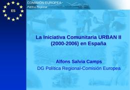 La Iniciativa Comunitaria URBAN II (2000