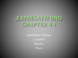 ¡Exprésate! UNO Chapter 4-1