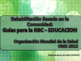 Guías para la RBC - Servicio Nacional de la