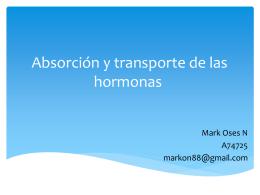 Absorción y transporte