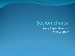 Sesión clínica