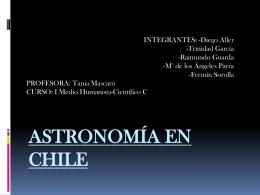 ASTRONOMÍA EN CHILE