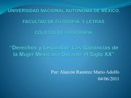 UNIVERSIDAD NACIONAL AUTÓNOMA DE MÉXICO. FACULTAD